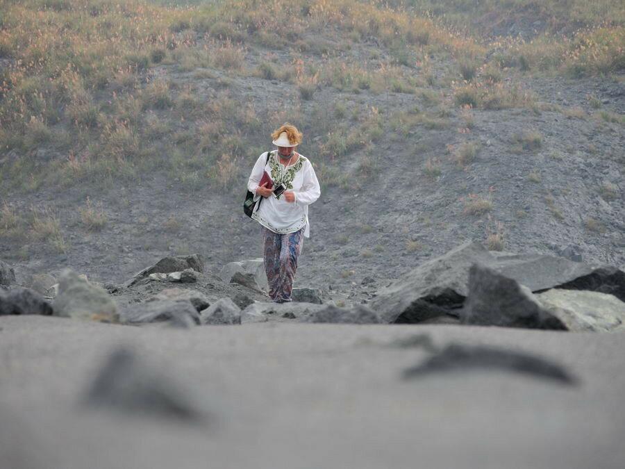 На вулкане в первый раз