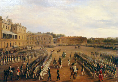 О.Г. Шварц (1800-1862). Манёвры при Павле I в Гатчине. 1847