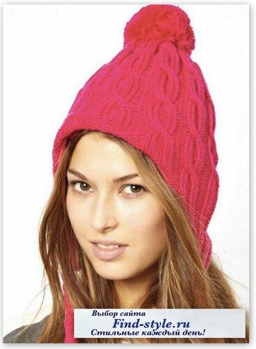 стильные женские шапки, стильная шапка спицами, KitSound