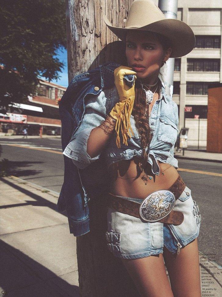 -Ковбой- Адриана Лима / Adriana Lima by Inez & Vinoodh in Garage #5 fall 2013