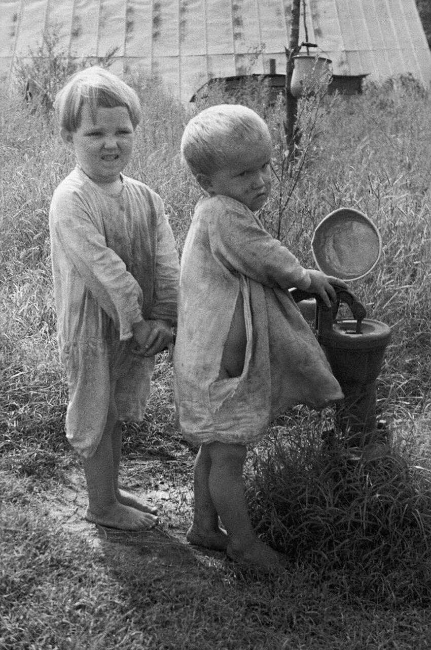 Дети арендатора-испольщика, Северная Каролина, 1935