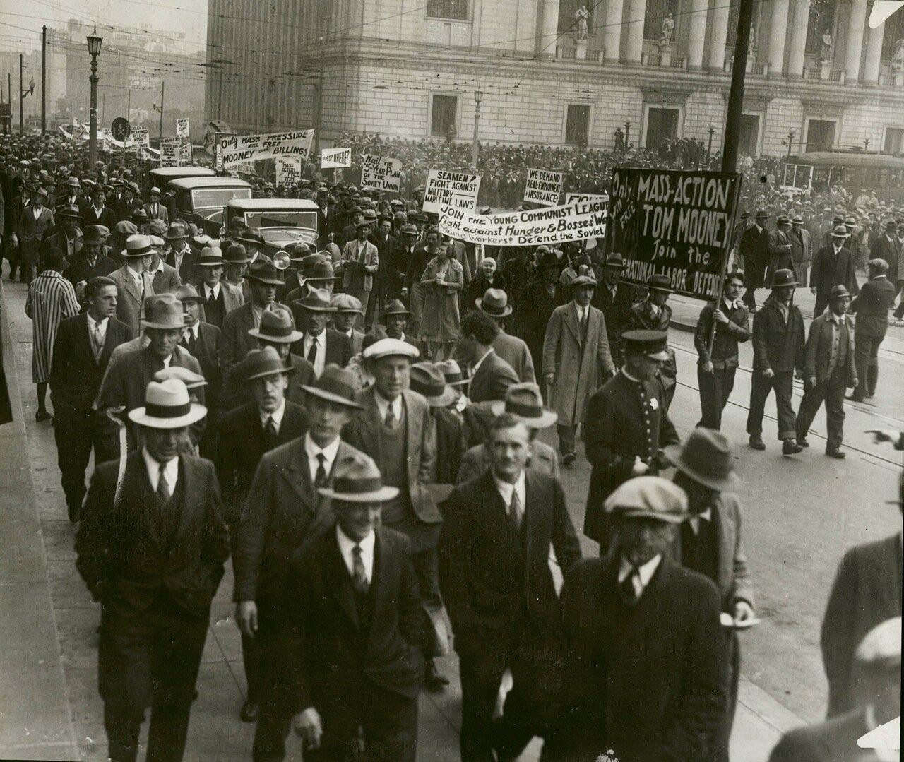 1931. Демонстрация коммунистов, Сан-Франциско