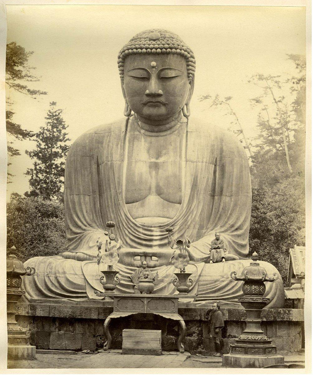 Камакура. Бронзовая статуя Дайбутсу
