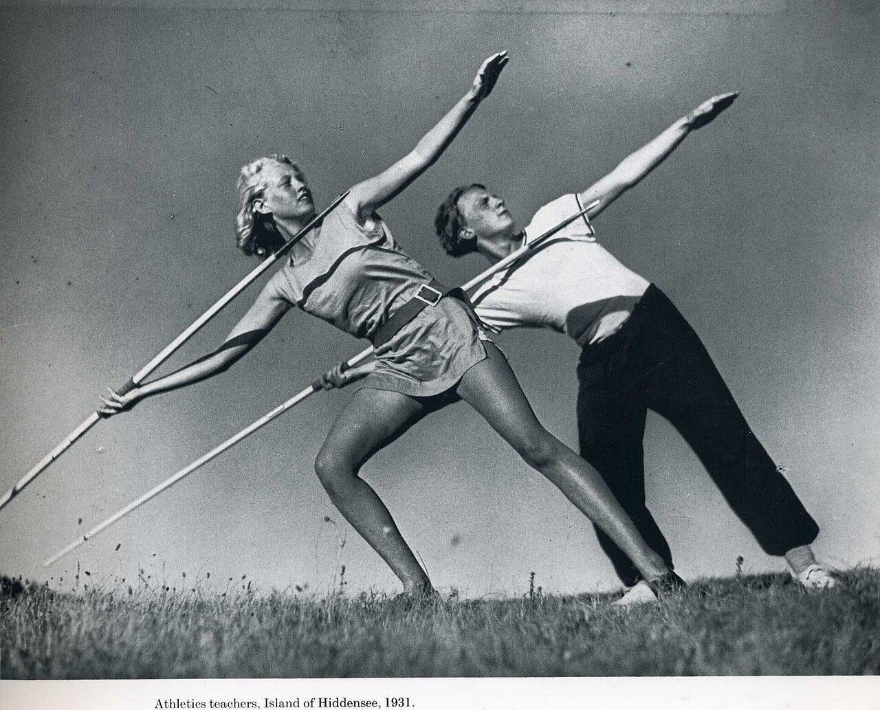 1931.Тренировка атлетов, остров Хидденз