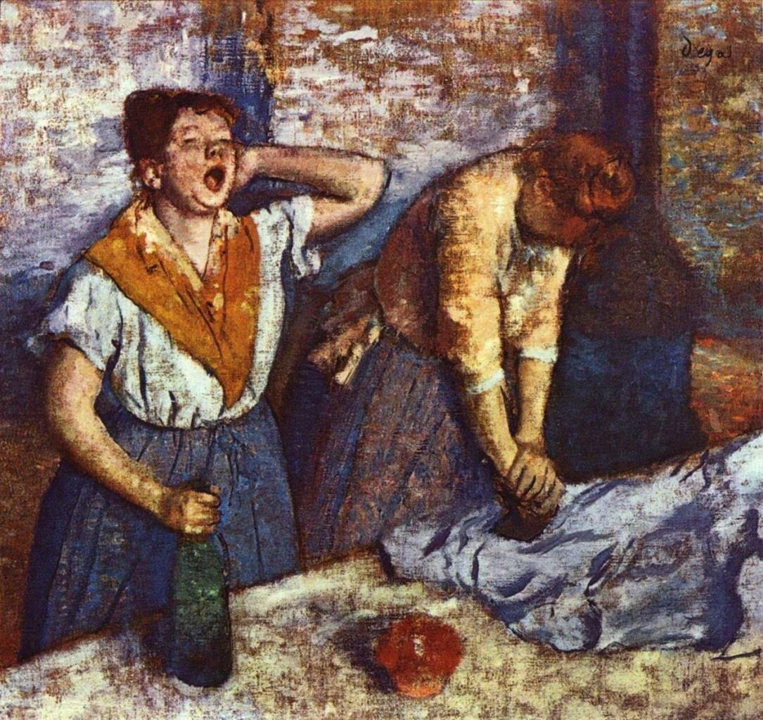 Две гладильщицы, ок 1884, Дега Эдгар (1834-1917), Музей Орсе, Париж