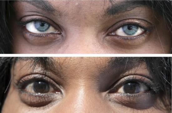 Операция изменить цвет глаз