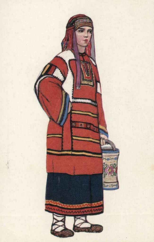 Народный костюм тульской губернии