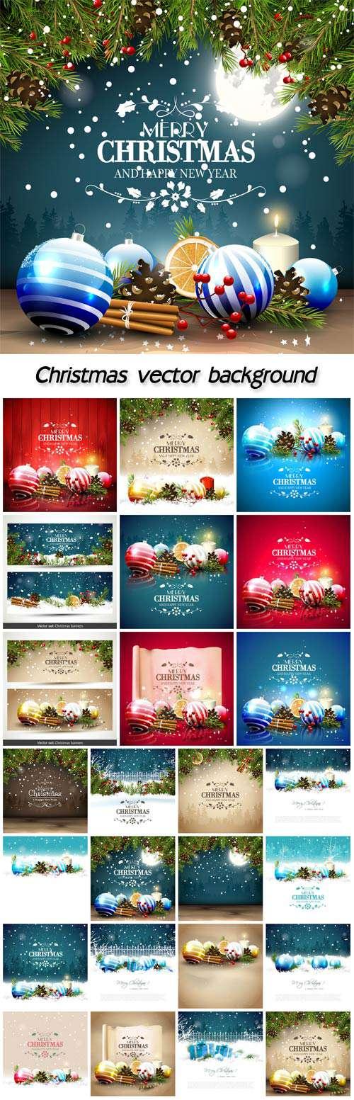 Новогодние зимние фоны, Рождественские украшения