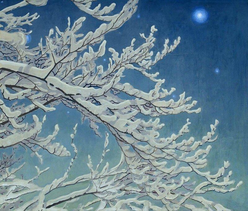 Gustaf Fjaestad. Зимняя ночь.jpg
