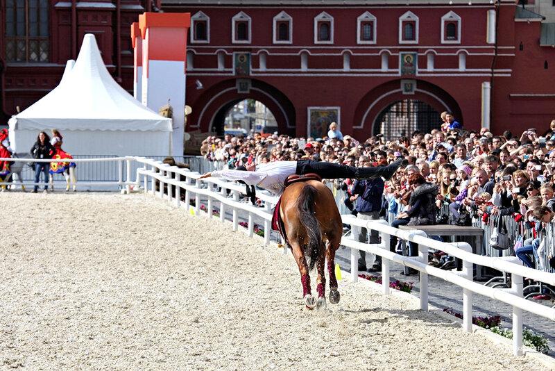 Конное шоу на Красной площади