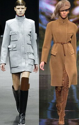 Пальто модные осенью