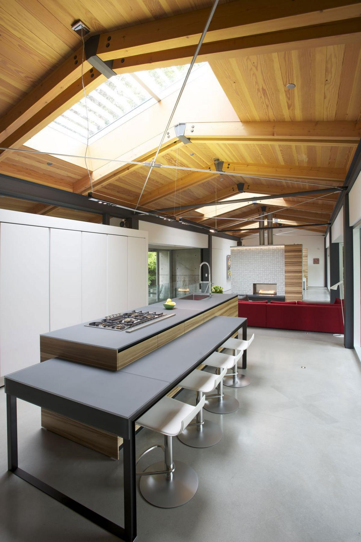 Проектное бюро DIALOG, Southlands Residence, частный дом в Ванкувере, дома в Британской Колумбии, резиденция в Канаде, частный дом в лесу, окна в крыше