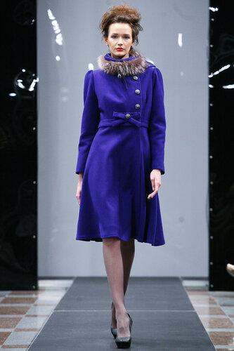 синее женское пальто ,расклёшенное,сайт fashion-piart.ru