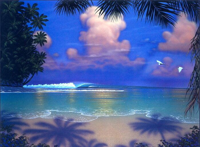 «Я не люблю тебя» — пишу уныло... Волна с весёлым шумом накатила