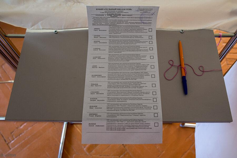 Избирательный участок в Петрозаводске