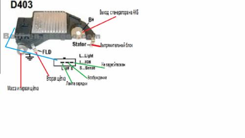 схема работы генератора chevrolet lanos