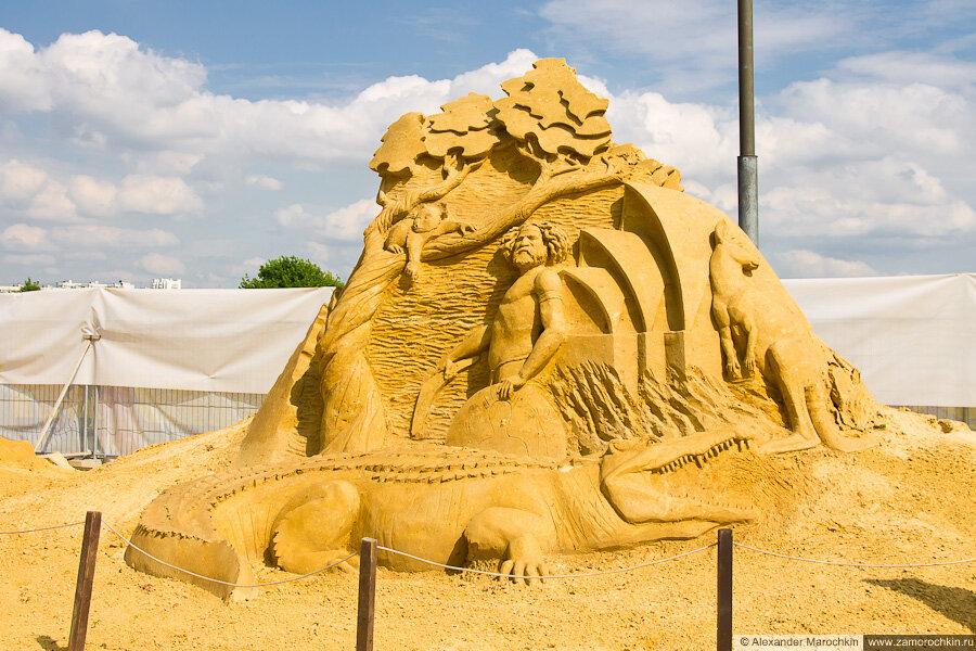 """Песчаная скульптура """"Австралия"""" в Коломенском"""