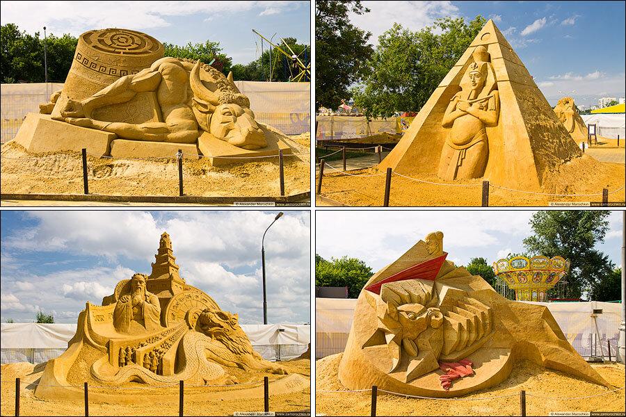 Скульптуры из песка в Коломенском