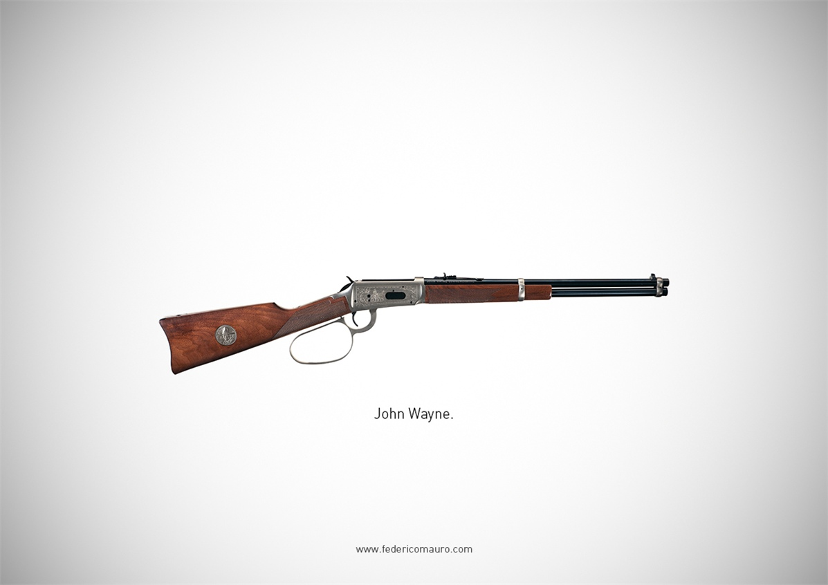 Знаменитые пушки - оружие культовых персонажей / Famous Guns by Federico Mauro - John Wayne
