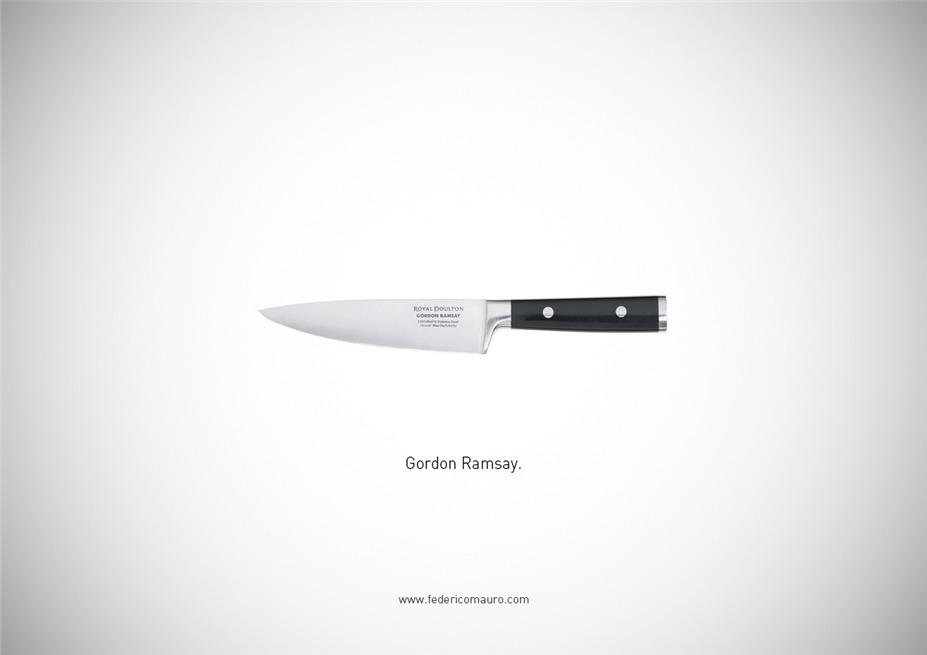 Знаменитые клинки, ножи и тесаки культовых персонажей / Famous Blades by Federico Mauro - Gordon Ramsay
