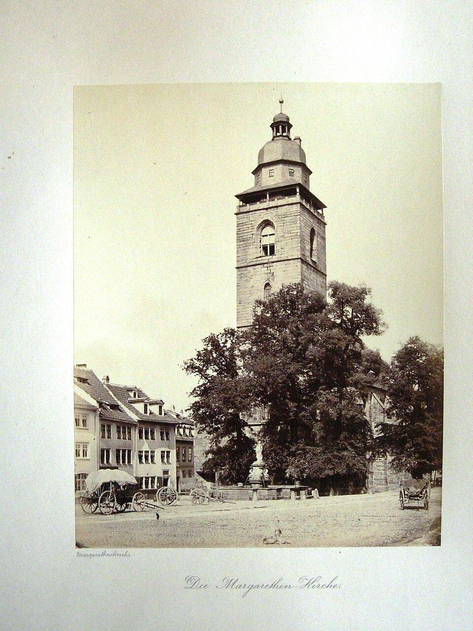 Die Margarethen-Kirche. [Photographs of Gotha, 1858. ]