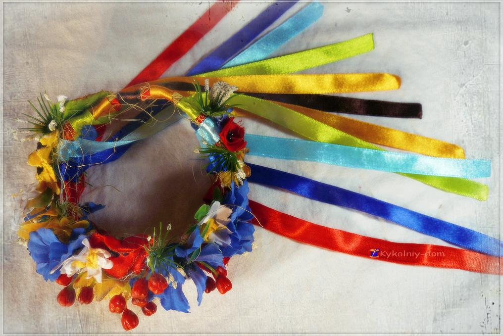 Украинский веночек. Украинка кукла текстильная в национальной украинской одежде.