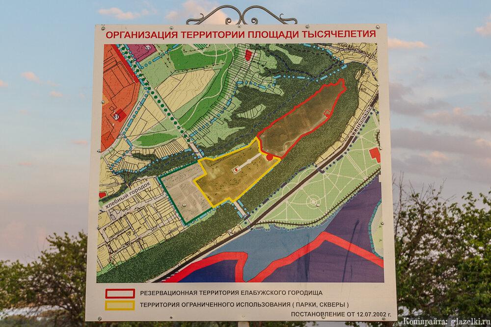 Чертово городище, зона защиты памятника.