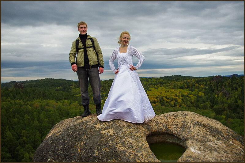 Свадьба прошла на высоте!