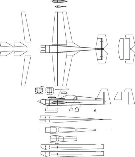 Самолет из потолочки чертеж