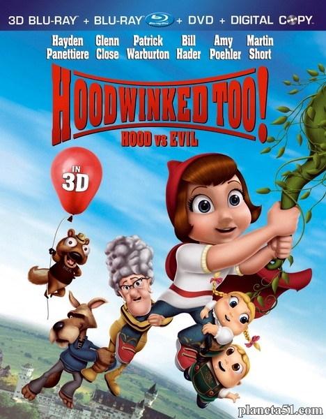 Красная Шапка против зла / Hoodwinked Too! Hood vs. Evil (2011/HDRip)