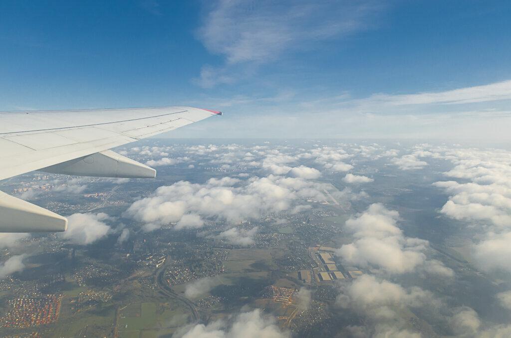 Подлетаем к Франкфурту