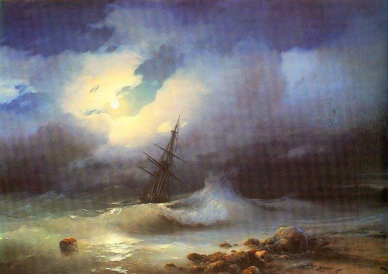 Бурное море ночью, Айвазовский Иван Константинович