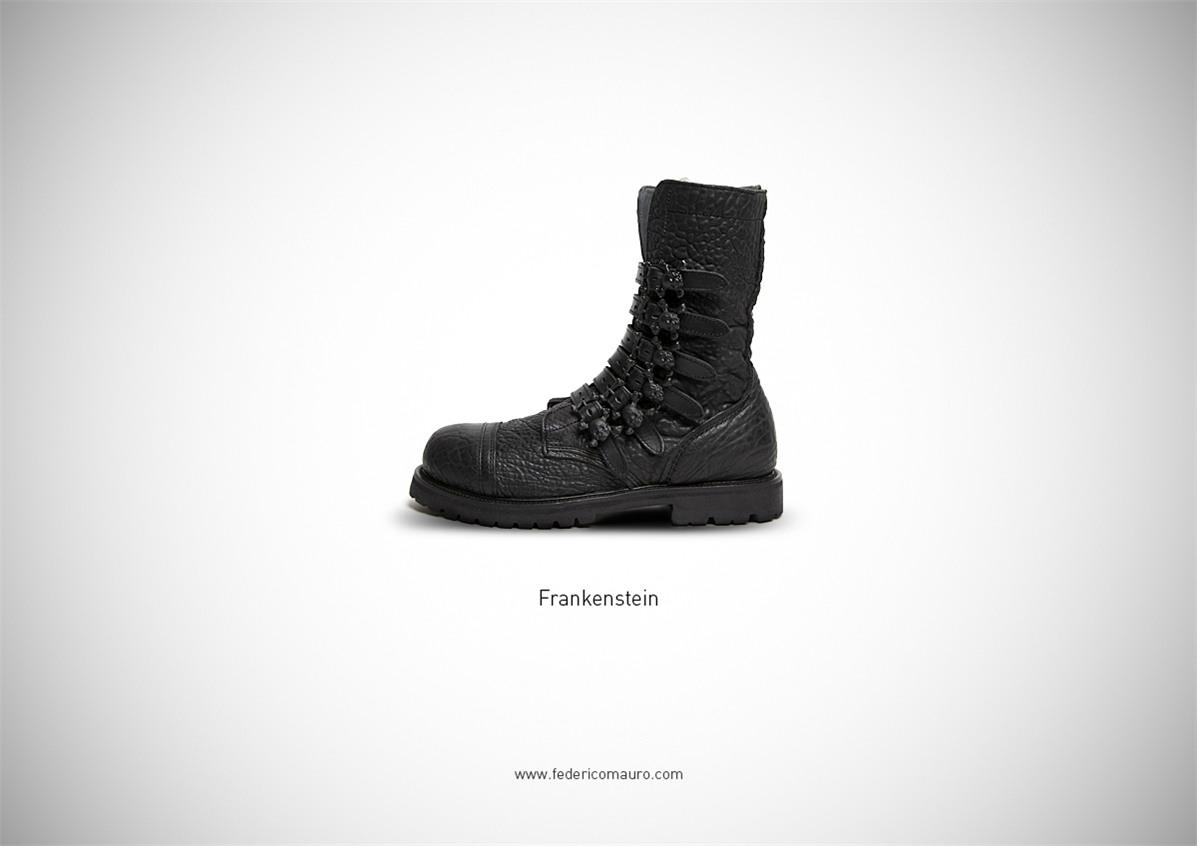 Знаменитая обувь культовых персонажей / Famous Shoes by Federico Mauro - Frankenstein