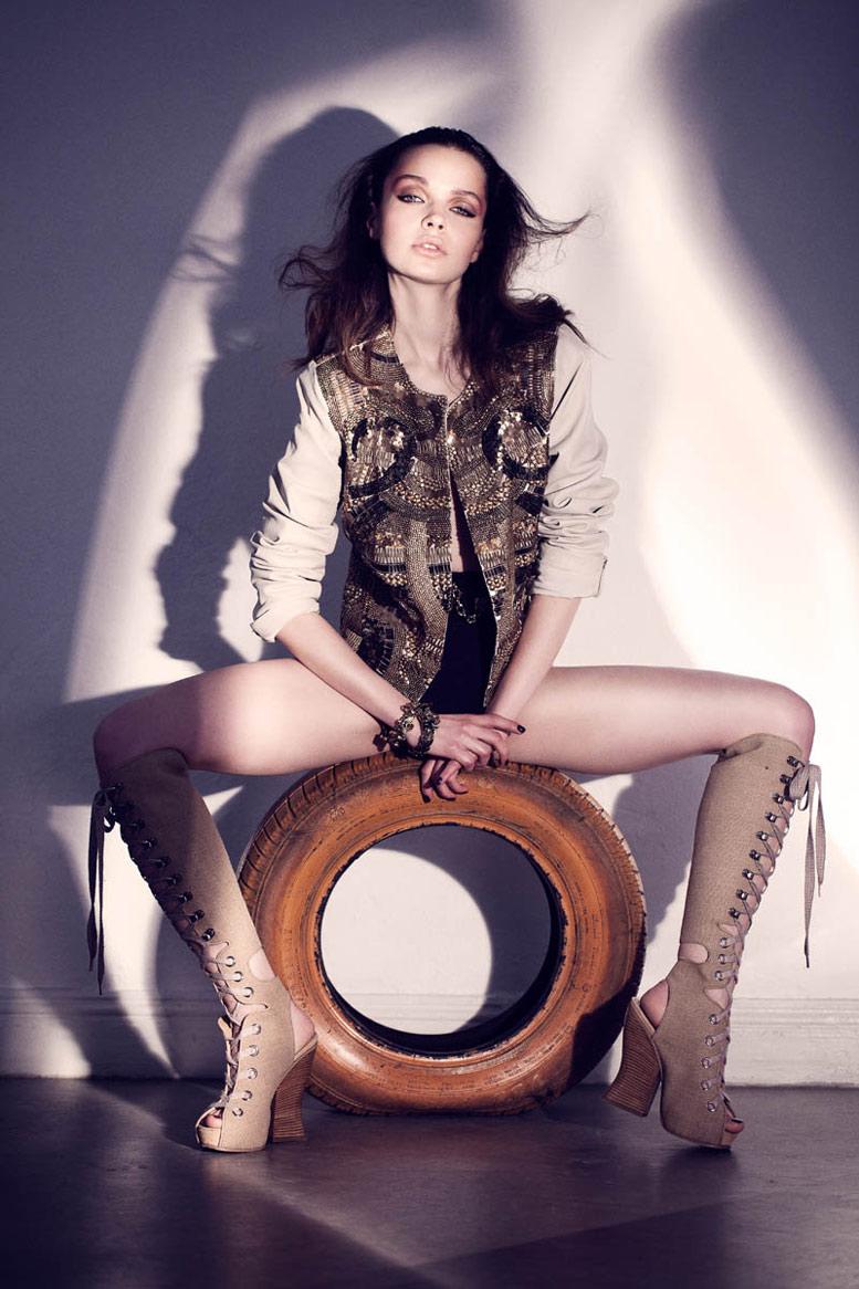 модель Бекка Бреймас / Becca Breymas, фотограф Andreas von Gegerfelt