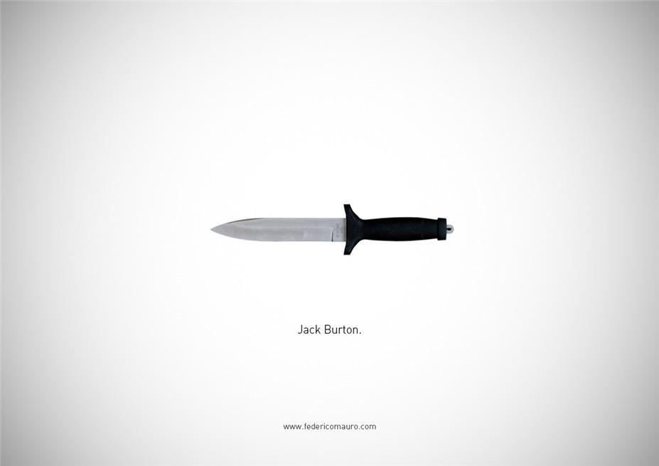 Знаменитые клинки, ножи и тесаки культовых персонажей / Famous Blades by Federico Mauro - Jack Burton