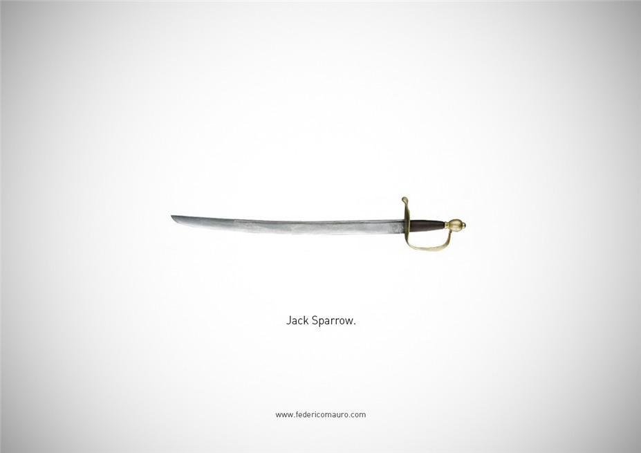 Знаменитые клинки, ножи и тесаки культовых персонажей / Famous Blades by Federico Mauro - Jack Sparrow