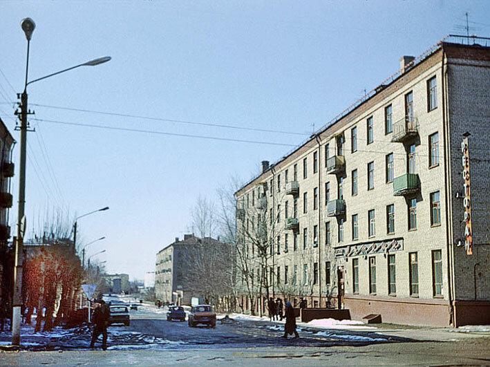 1979. Перекресток ул. Мира и ул. Матросова, ресторан Мытищи,