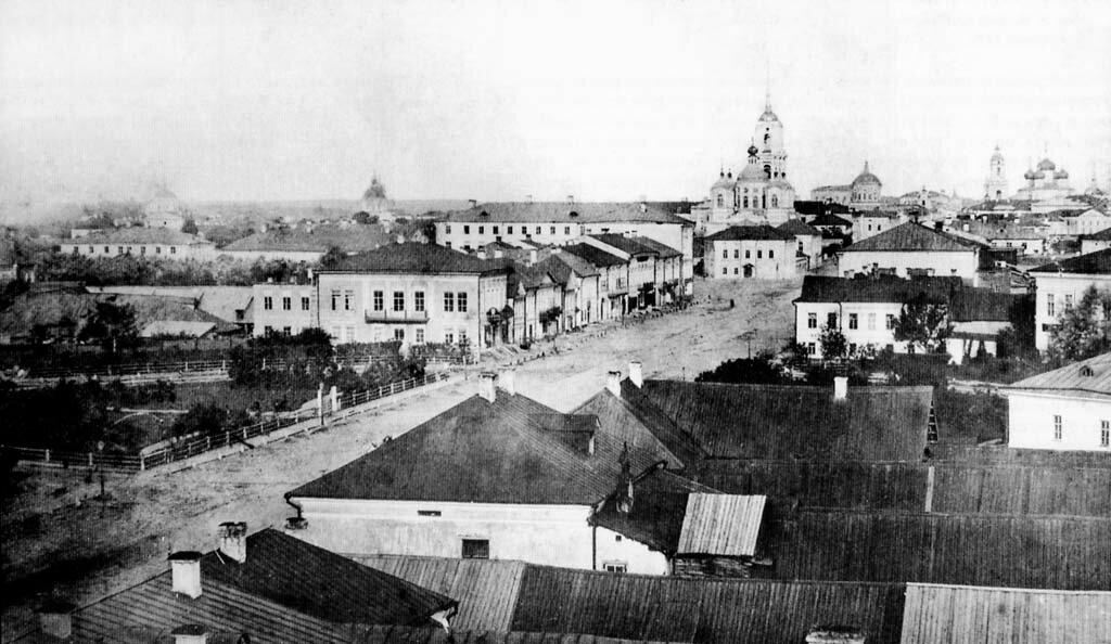 Миллионная улица с башни бани. 1870