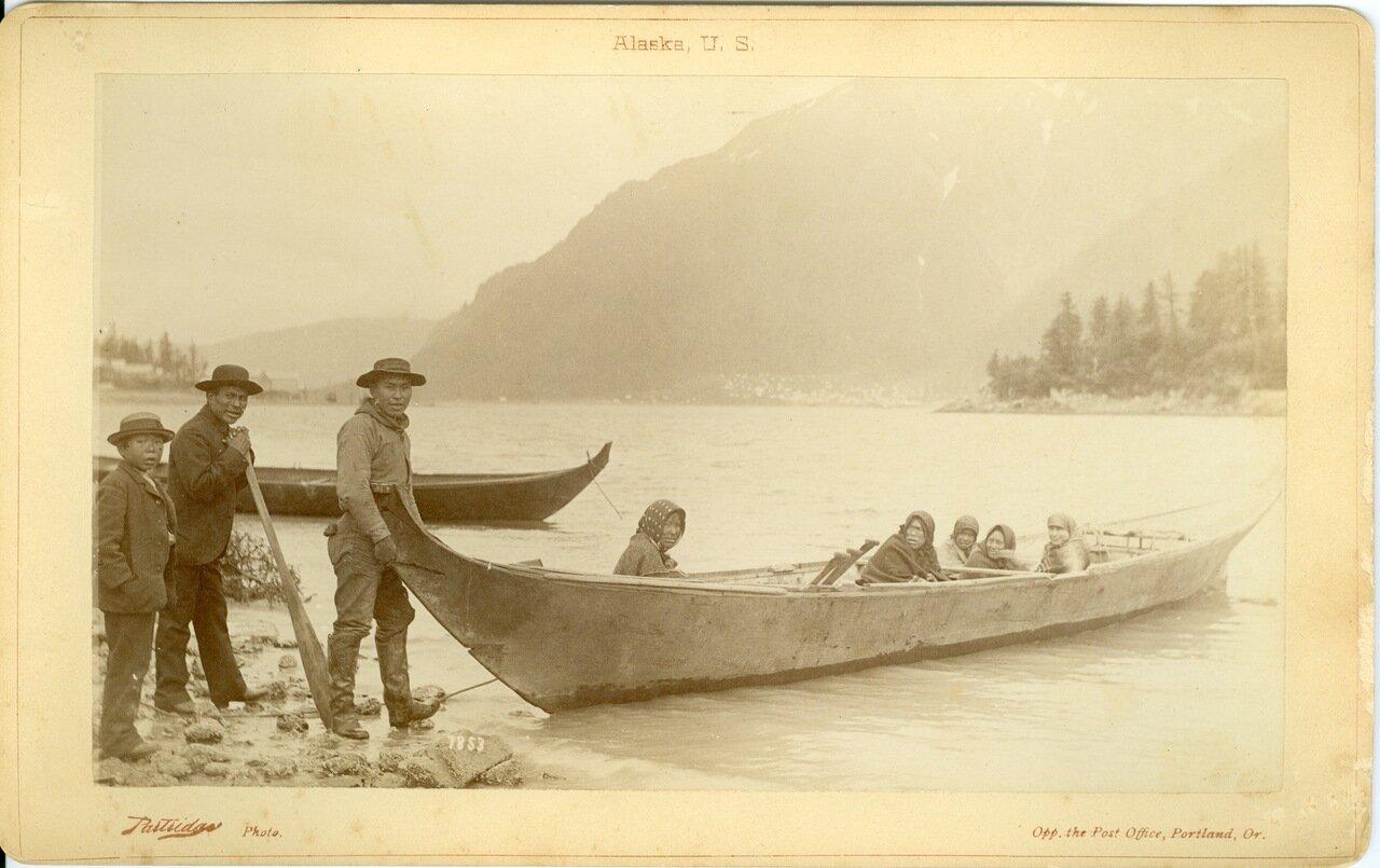 1886. Тлинкиты на берегу острова Дугласа