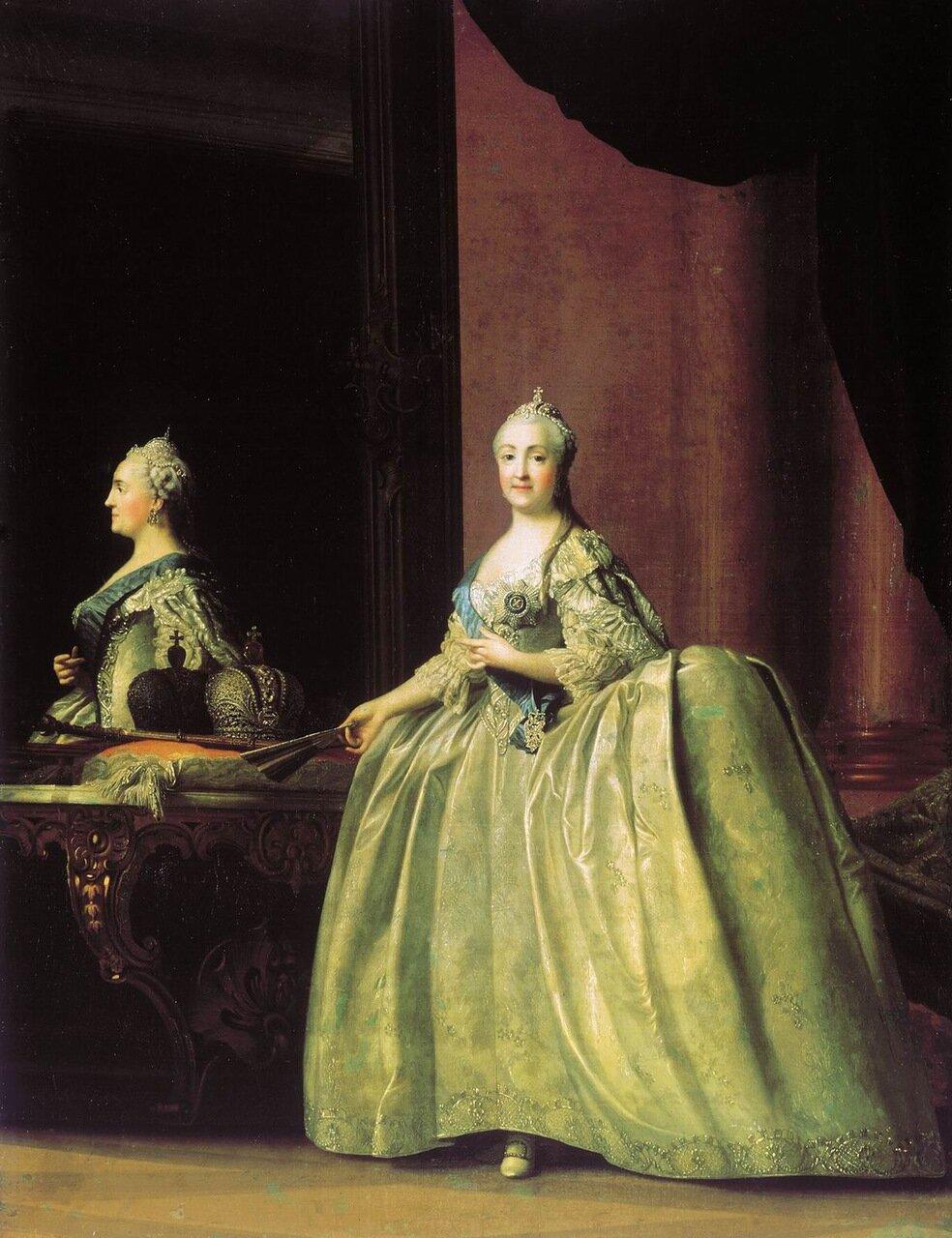 Вигилиус Эриксен. Портрет Екатерины II перед зеркалом