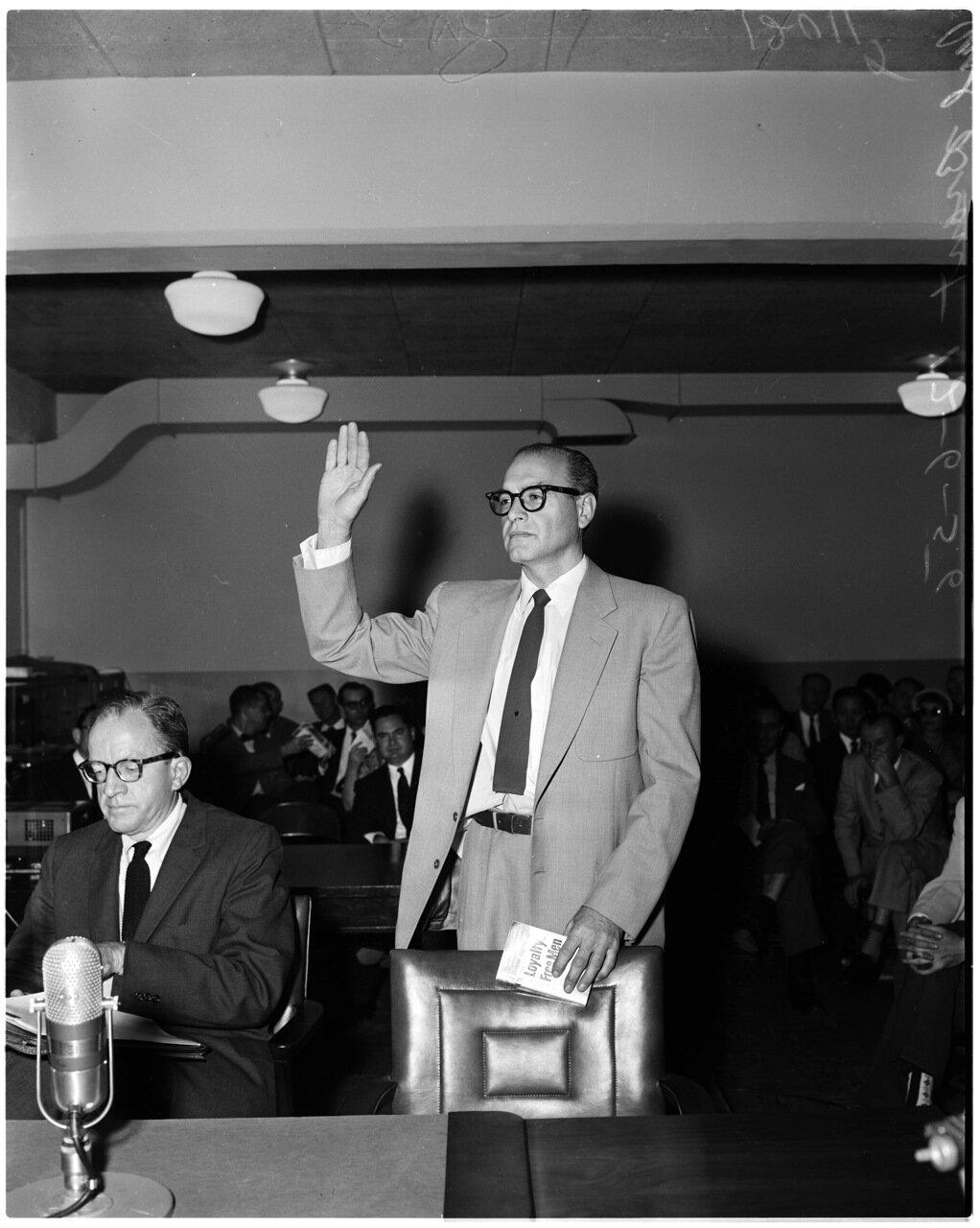 1956. 6 декабря. Комиссия по расследованию антиамериканской деятельности.