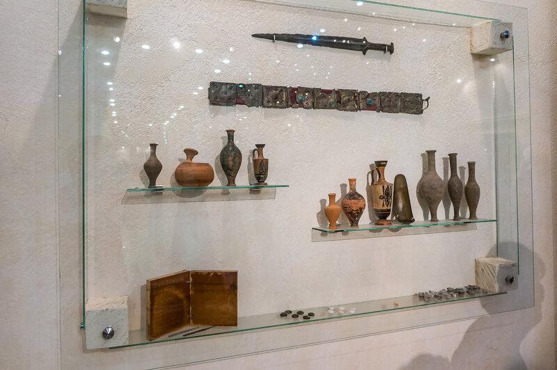 Экспозиция археологического музея Горгиппии