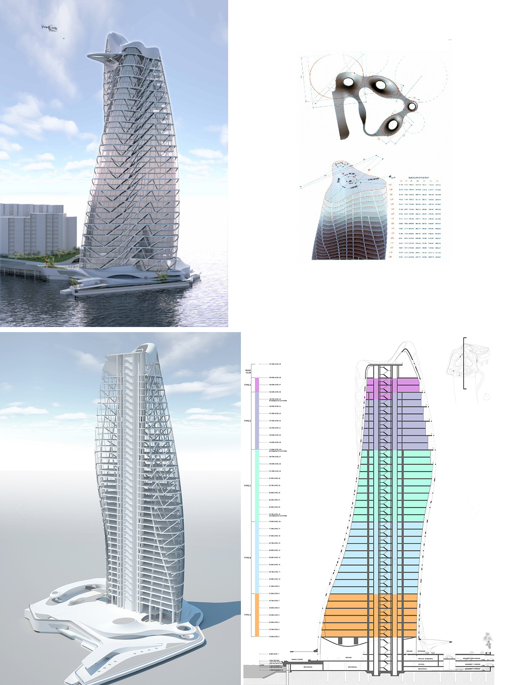 Strata Tower by Asymptote with Gehry Technologies