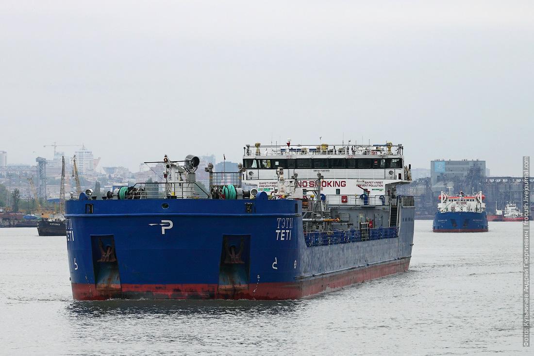 Дон. Ростов-на-Дону. Нефтеналивное судно «Тэти» (2010 года постройки)