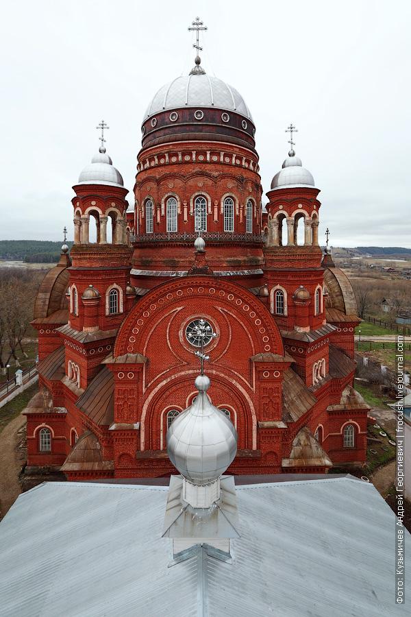 вид с колокольни на Троицкий собор в Уржуме
