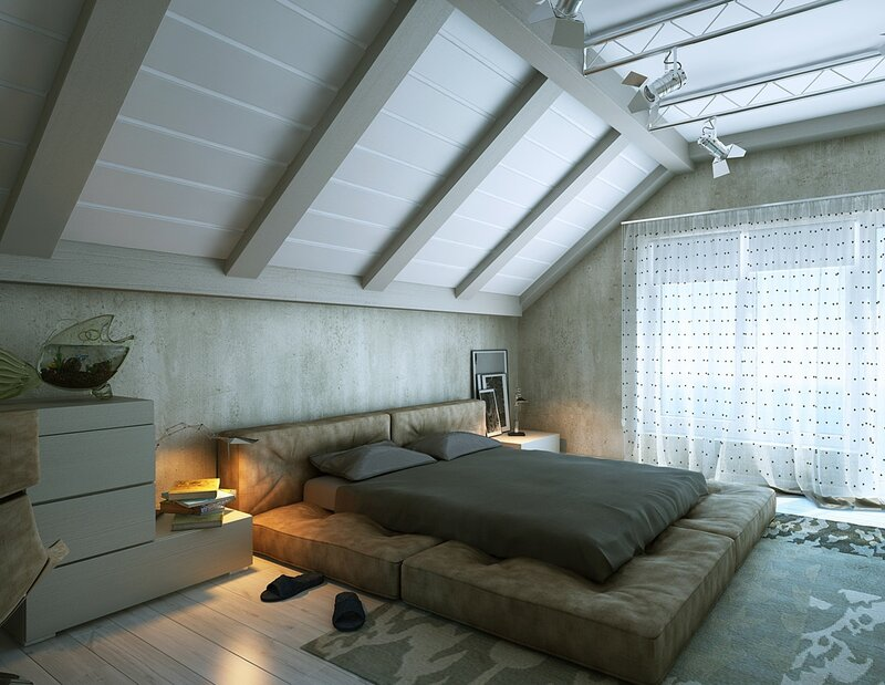 Bed in a wall design