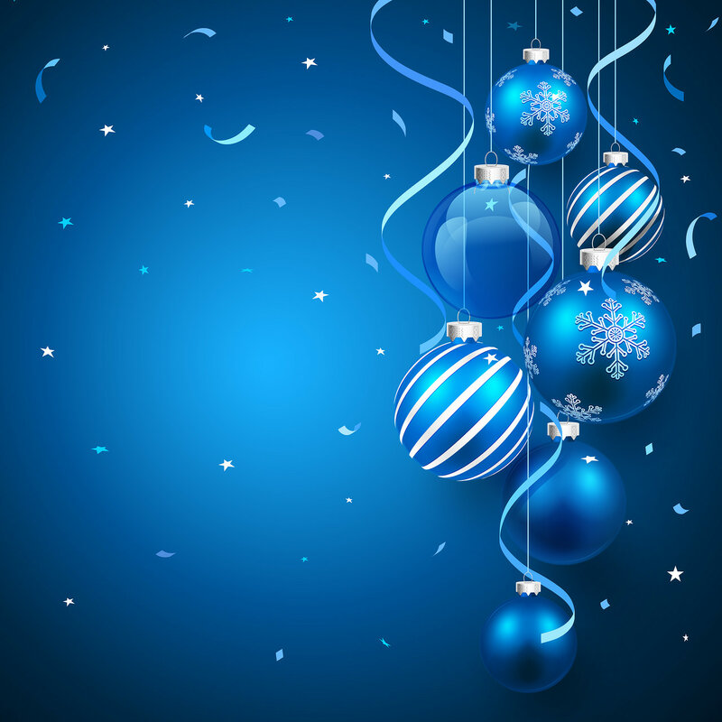 Christmas balls blue