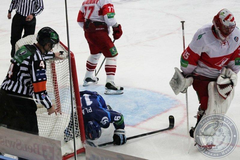 «Динамо» (Минск) vs «Спартак» 3:1 чемпионат КХЛ 2013-2014 (Фото)