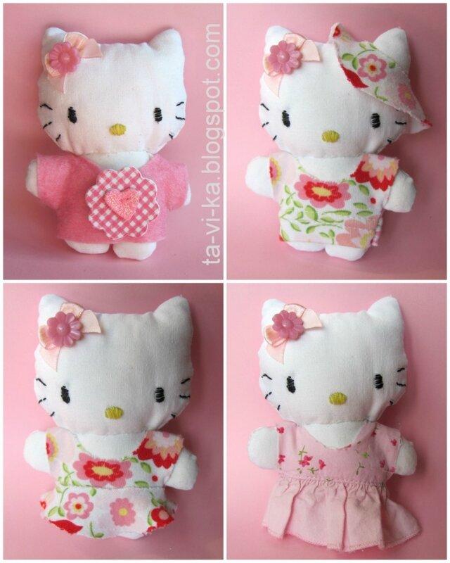 Hello Kitty игрушка своими руками