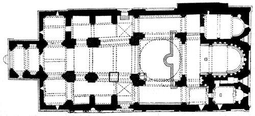 Собор Свети-Цховели в Мцхете, план